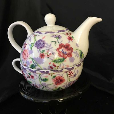 2-piece-'Tea-For-One'-purple-and-pink-flower-motif.-WEB