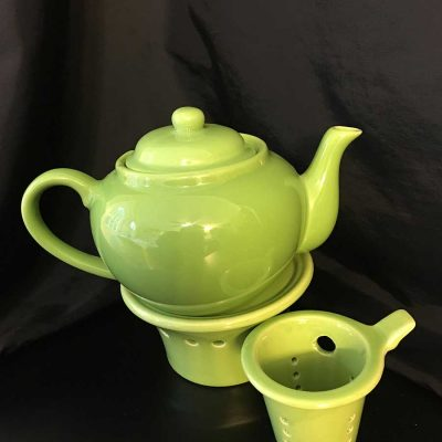 Tea pots warmers emerald necklace inn Green tea pot set